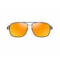 Mirror lens polarised sunglasses