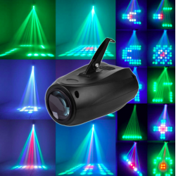 10W 64 LED RGBW F5mn laser lamp event disco verlichting