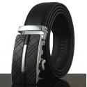 Mens belt leather business automatic buckle 110 - 130cm