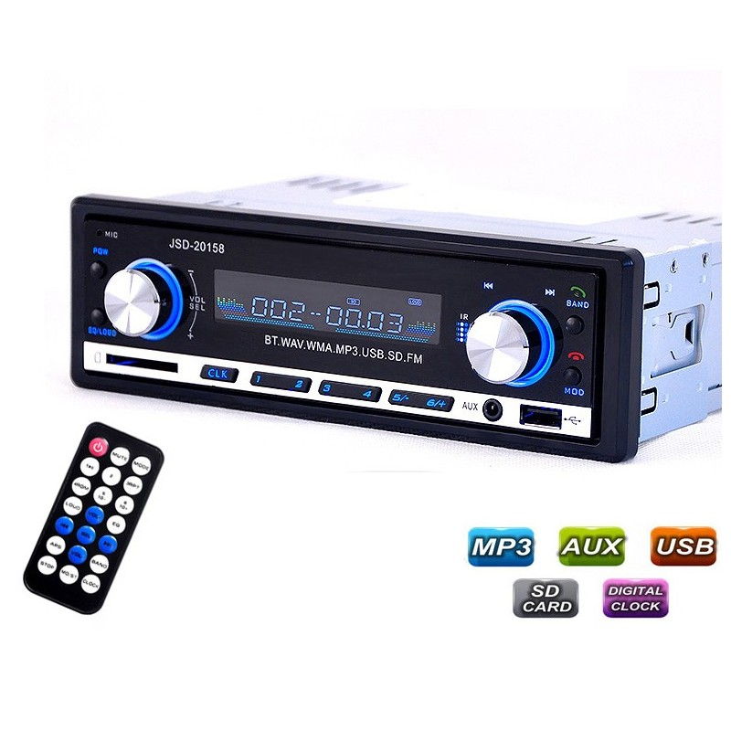 Radio coche Bluetooth - MP3 Player USB 4*60W