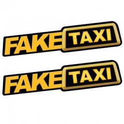Fake Taxi - reflektierender Autoaufkleber 2 Stück