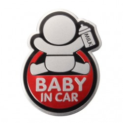 BABY IN CAR sticker para coche 3D