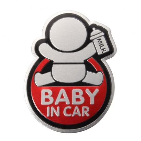 BABY IN CAR sticker per auto 3D
