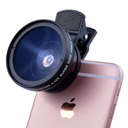 Kit lentes para càmara wide angle iPhone 6 Plus 5S 4S Samsung S6 S5 Note 4 HD