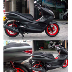 Motorcycle - scooter - matte black vinyl wrap sticker
