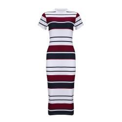 Ołówkowa sukienka w paski midi