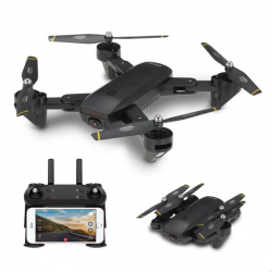 Drone quadcopter plegable avec camera flux optique DM DM107 WIFI FPV Dual 2MP RC