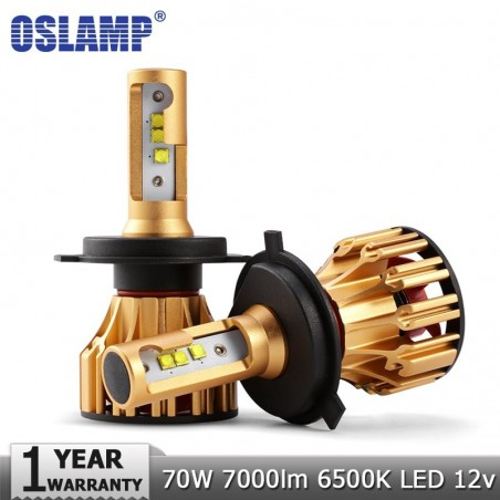 Oslamp H4 H7 LED Phare Ampoules H11 9005 9006 SMD Puces 70 W 7000LM 6500 K Voiture Led Auto Phare Ph