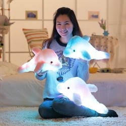 Luminous LED plush dolphin doll toy 45 cm