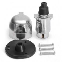 12N 7 kit de connecteur de prise et de prise de remorquage en métal a broche pour remorque caravane