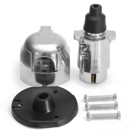 12N 7 pin conector de remolque de metal y kit de conector de zócalo para remolque caravana de remolque