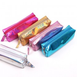 Iridescent laser school pencil case