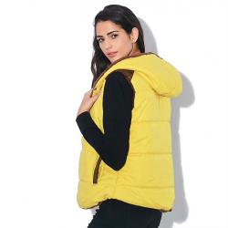 Slim-design warme jas vest bodywarmer met capuchon katoen