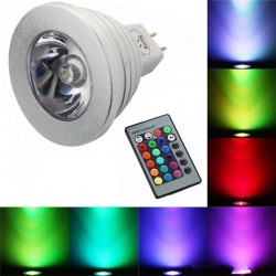 Ampoule change couleur télécommandèe E14 E27 RGB LED 3W