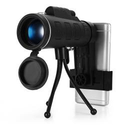 40 x 60 BAK4 HD mini luneta jednooczna z kompasem