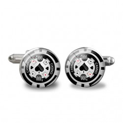 Poker cards casino cufflinks