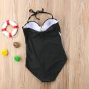 Zwart en wit badpak one-piece push-up