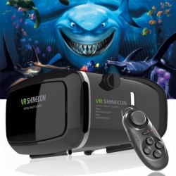 Shinecon Pro Version VR virtual reality 3D bril + smart gamepad