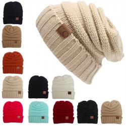 Gorro unisex de invierno de lana entrezada