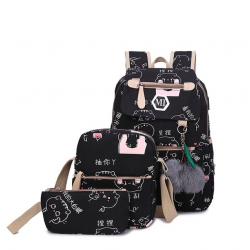 Set mochila con cargador USB 3 pcs