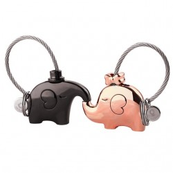 Elephant keychain for couples