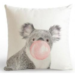 Federa cuscino rosa stampata