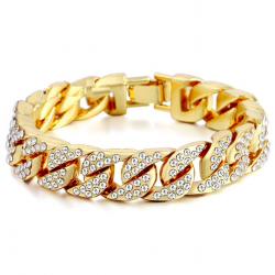 Bracelet unisex or et argent
