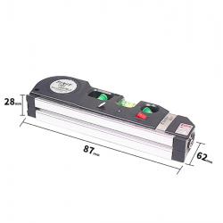 Ruban à mesurer niveau laser multifonction