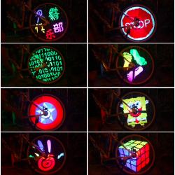 Lumière LED programmàble pour roue vèlo