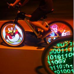 LED programowalne światło szprychy koła rowerowego