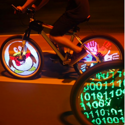 Luz LED programàble para rueda bici