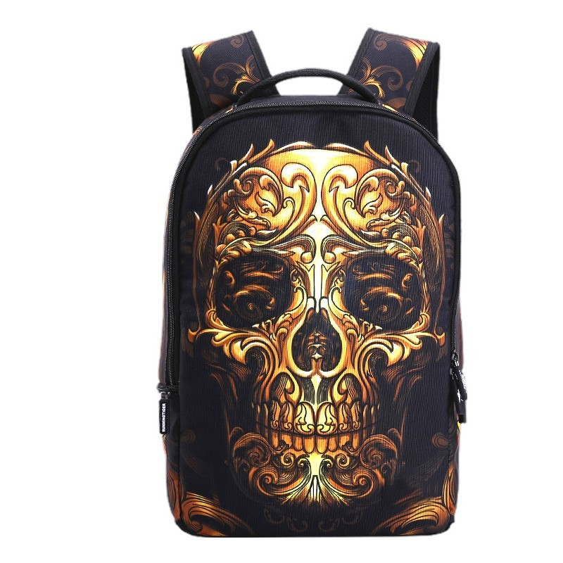 3D Skull backpack rugtas canvas