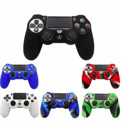 PS4 Playstation Kontroler silikonowa pół pokrywa & thumb naklejki uchwyty