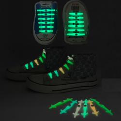 Silikonowe świecące LED sznurówki 12 szt zestaw