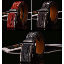 Genuine leather crocodile design belt