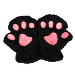 Guantes sin dedos con pata oso