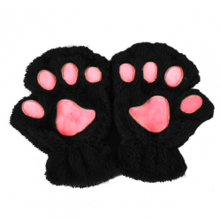 Niedźwiedzia łapka pluszowe rękawiczki bez palców