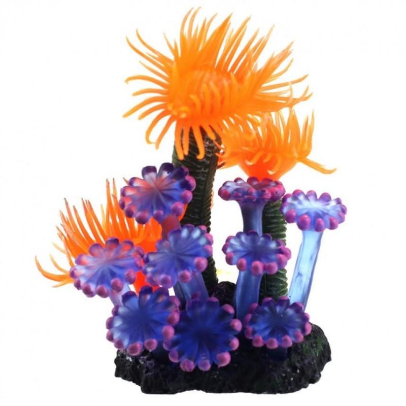 Aquarium fish tank soft artificial resin coral