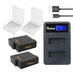 GoPro Hero 5 - 6 Oplader + 2 * AHDBT-501 Batterij