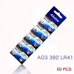 AG3 LR41 192 L736 392 SR736 V36A guzikowe li-ion baterie 10 szt