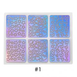 Wycinane laserowo ozdoby na paznokcie naklejki zestaw