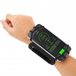 iPhone 4 - 5.5 inch180 degree rotatable jogging phone holder wristband belt strap