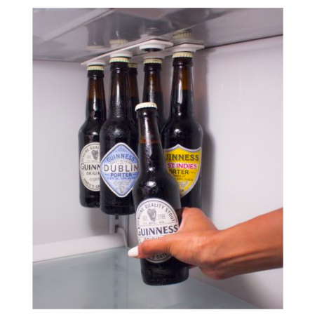 Bottle & jar magnetic holder hanger strips