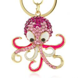 Crystal Octopus Schlüsselanhänger