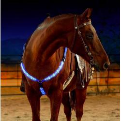 LED koński napierśnik pas piersiowy