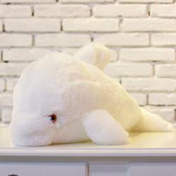 Świecący LED pluszowy delfin zabawka 45 cm