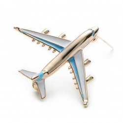 Jumbo airplane brooch