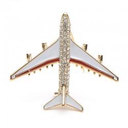 Broche avion cristal