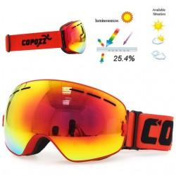 Occhiali snowboard doppi antinebbia UV400