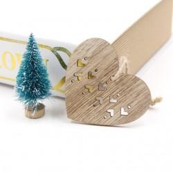 Weihnachtsbaum Xmas dekoration Holzanhänger 6 Stück